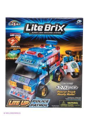 Конструктор Полицейский фургон Lite Вrix. Цвет: синий