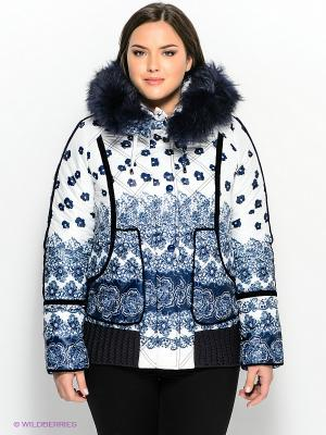 Куртка Sinta Via. Цвет: синий, белый