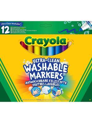12 смываемых фломастеров Супер чисто Crayola. Цвет: желтый