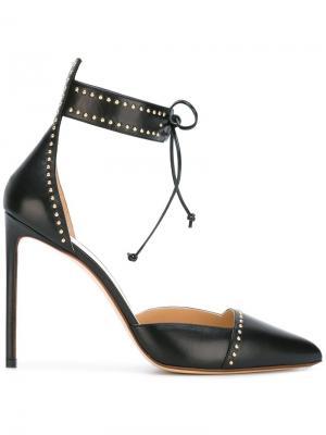 Ankle tie pumps Francesco Russo. Цвет: чёрный