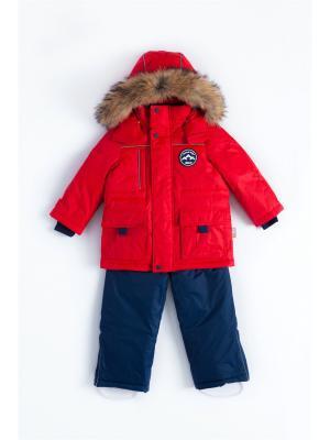 Комплект (куртка+полукомбинезон) NELS. Цвет: темно-синий, красный