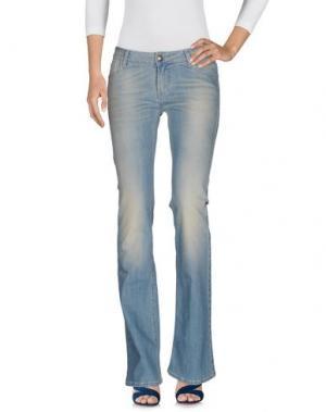Джинсовые брюки E_GO' SONIA DE NISCO. Цвет: синий