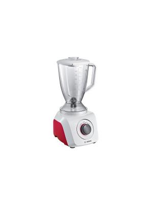 Блендер стационарный  MMB21P0R 500Вт Bosch. Цвет: белый, красный