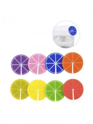 Маркеры для бокалов Fruit Party 8шт. Balvi. Цвет: синий, зеленый, фиолетовый, красный, оранжевый, розовый, горчичный, желтый