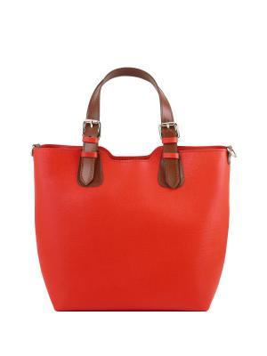 Сумка из кожи Саффьяно Tuscany Leather. Цвет: красный