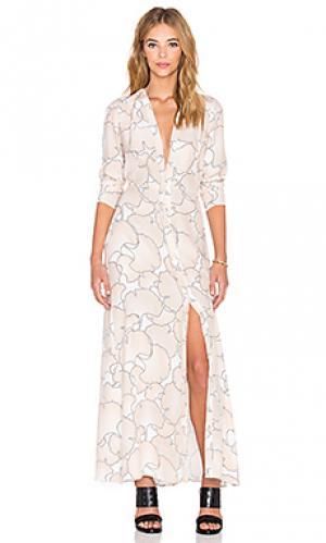Платье veil VEDA. Цвет: румянец
