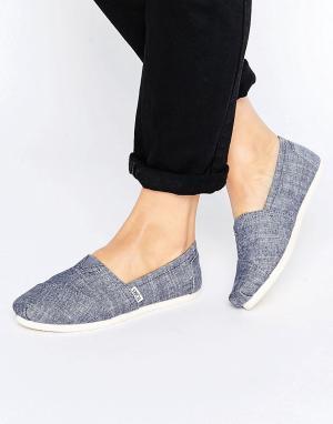 Toms Синие туфли из ткани шамбре. Цвет: синий