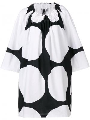 Платье в крупный горох Junya Watanabe Comme Des Garçons. Цвет: чёрный