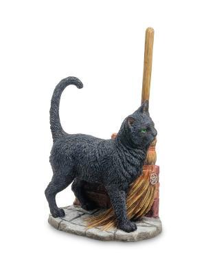 Статуэтка Кот с метлой Veronese. Цвет: бежевый, черный