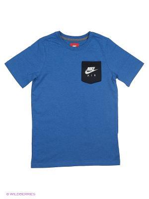 Футболка B NSW TOP SS NIKE AIR HYBRID. Цвет: синий, черный