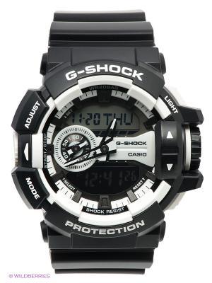 Часы G-SHOCK GA-400-1A CASIO. Цвет: черный, белый