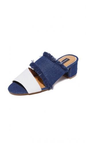 Туфли без задника Acme на каблуке JAGGAR. Цвет: деним