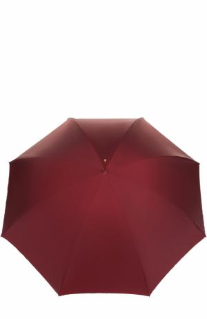 Зонт-трость с принтом Pasotti Ombrelli. Цвет: бордовый