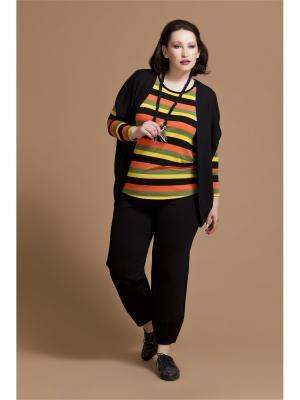 Пуловер AVERI. Цвет: черный, желтый, оранжевый