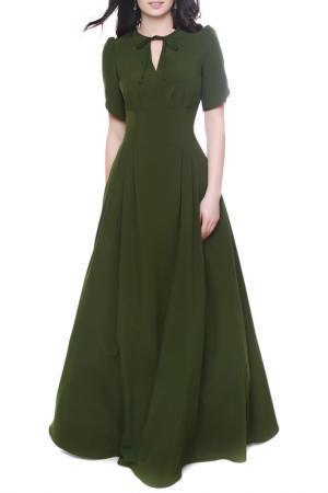 Платье Olivegrey. Цвет: темно-оливковый