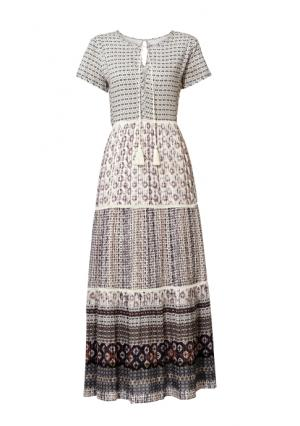 Платье макси Linea Tesini. Цвет: цветной
