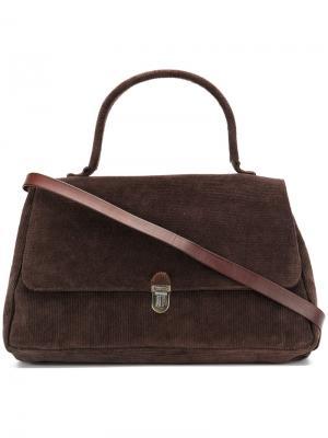 Классическая сумка-сэтчел с откидным клапаном Cherevichkiotvichki. Цвет: коричневый