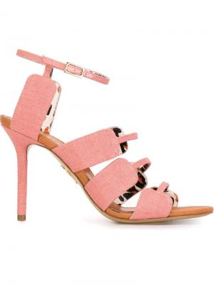 Босоножки Meryl Charlotte Olympia. Цвет: розовый и фиолетовый