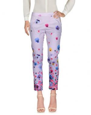 Повседневные брюки EAN 13. Цвет: светло-фиолетовый
