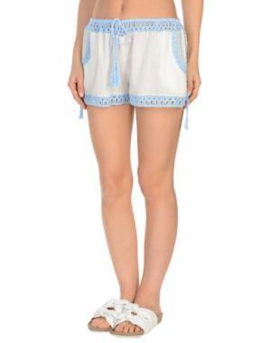 Пляжные брюки и шорты ANNA KOSTUROVA. Цвет: лазурный