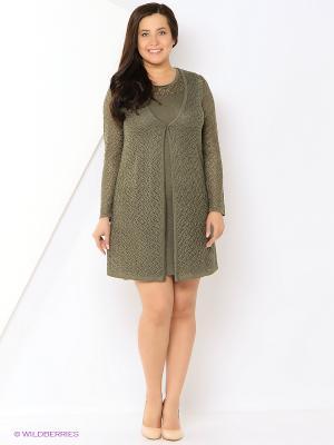 Комплект одежды Veronika Style. Цвет: хаки