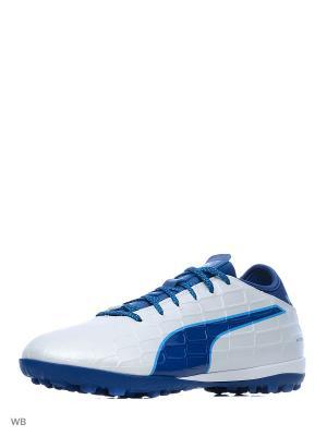 Бутсы evoTOUCH 3 TT Puma. Цвет: белый, синий
