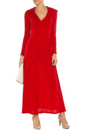 Платье с капюшоном Ангора Alina Assi. Цвет: красный