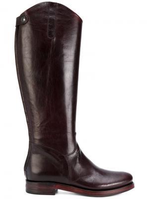 Rear zip boots Rocco P.. Цвет: красный