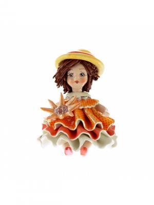 Статуэтка Девочка Лето Zampiva. Цвет: красный, желтый, оранжевый