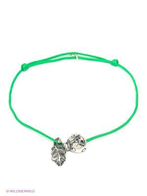 Браслет Amorem. Цвет: зеленый, серебристый
