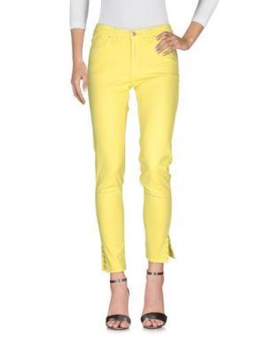 Джинсовые брюки TAVIANI. Цвет: желтый