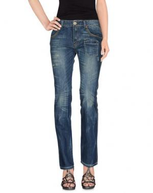 Джинсовые брюки EL CHARRO. Цвет: синий