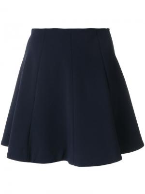 А-образная юбка со вставками Dondup. Цвет: синий