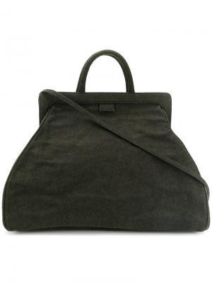 Объемная сумка-тоут Zilla. Цвет: зелёный