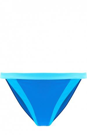 Плавки-бикини с контрастной отделкой NATAYAKIM. Цвет: синий