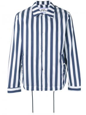 Striped shirt jacket Lc23. Цвет: синий