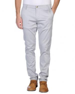 Повседневные брюки MONKEE GENES. Цвет: светло-серый