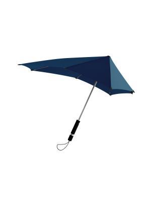 Зонт-трость senz Original sporty blue doubles. Цвет: синий
