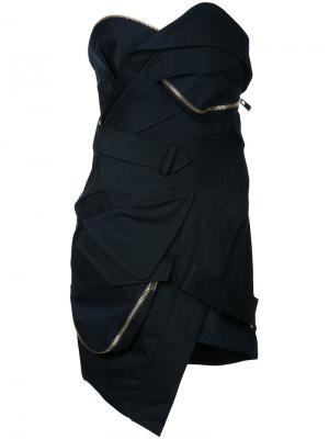 Короткое платье-бюстье Alexandre Vauthier. Цвет: чёрный