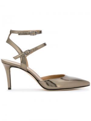 Туфли на шпильке Marc Ellis. Цвет: металлический