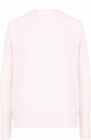 Кашемировый пуловер с круглым вырезом Victoria Beckham. Цвет: розовый