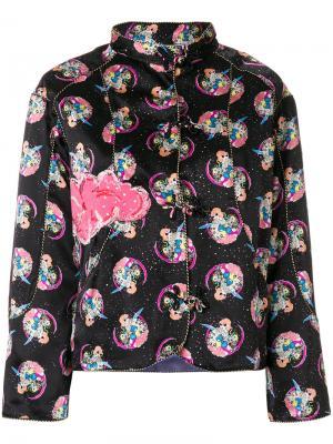 Приталенный пиджак с принтом Cosmo Girl Tsumori Chisato. Цвет: чёрный