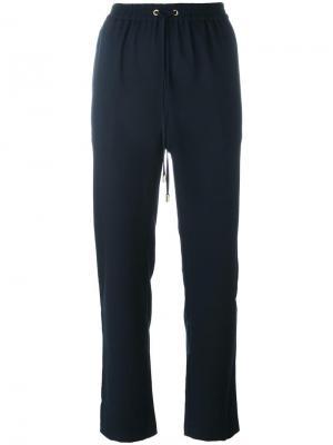Прямые брюки на шнурке Michael Kors. Цвет: синий