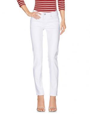 Джинсовые брюки FRESH MADE. Цвет: белый