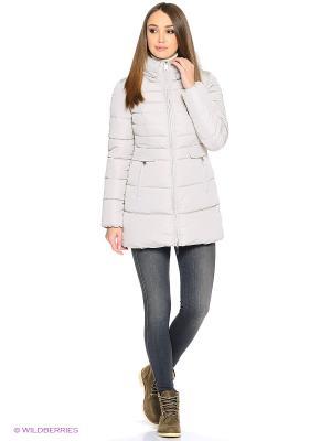 Стеганое пальто Grishko. Цвет: молочный
