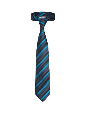 Классический галстук Путь в Берлин диагональную полоску Signature A.P.. Цвет: голубой, серый, черный