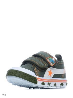 Ботинки PlayToday. Цвет: зеленый, оранжевый, белый