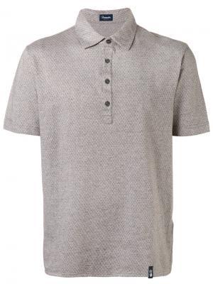 Classic polo shirt Drumohr. Цвет: коричневый