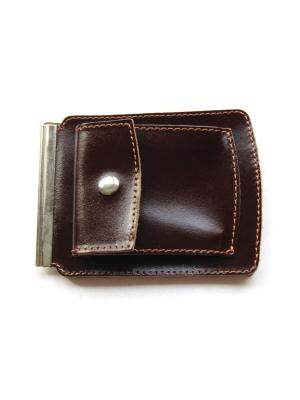 Денежный зажим с монетником Вектор. Цвет: коричневый