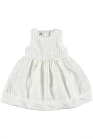 Хлопковое платье IDO. Цвет: кремовый